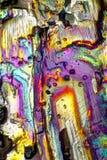 与燃烧的水晶的显微镜艺术 免版税库存图片