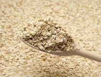与燕麦剥落的背景 免版税库存图片