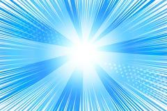 与爆炸的光芒的背景 库存例证