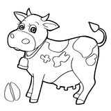 与爪子印刷品着色的牛呼叫传染媒介 免版税库存图片