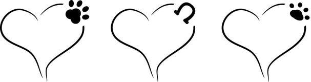 与爪子的心脏 免版税图库摄影图片