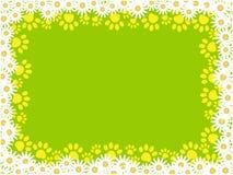 与爪子的花卉框架在绿色背景打印 皇族释放例证