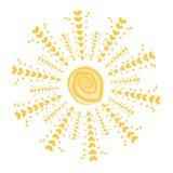与爱亮光的夏天太阳 库存照片