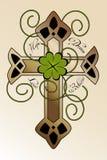 与爱尔兰十字架的纹身花刺设计 免版税库存图片