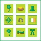 与爱尔兰旗子的五颜六色的背景 免版税库存图片