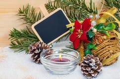 与片剂的圣诞节构成文本的 图库摄影
