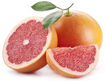 与片式的葡萄柚。 库存图片