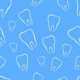 与牙的无缝的样式 库存照片