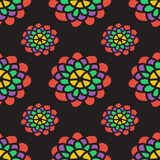 与牡丹的抽象花卉样式 向量 免版税图库摄影