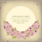 与牡丹的美丽的卡片 免版税库存图片