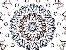 与牡鹿被塑造的设计的螺旋圈子 库存照片
