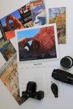 与犹他&科罗拉多小册子的旅行日历 库存图片