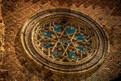 与犹太教堂的门面细节的老照片 02罗马尼亚方形timisoara联盟 库存照片