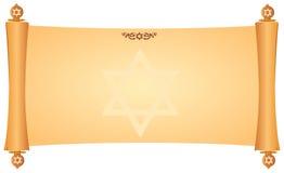与犹太符号的羊皮纸 免版税库存图片
