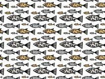 与狂放的生活色的鱼的无缝的样式 免版税库存图片