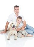 与狗的一个新系列 免版税图库摄影