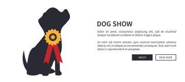 与狗竞争的优胜者的狗展示横幅 库存例证