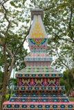 与独特的样式的寺庙缩样在每年Lumpini文化节日 图库摄影