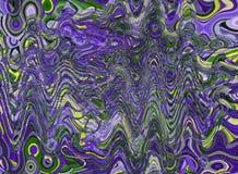 与独特的纹理的抽象五颜六色的样式 水和液体 皇族释放例证