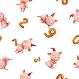 与猪的模式 免版税库存照片