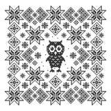 与猫头鹰的装饰品 免版税图库摄影