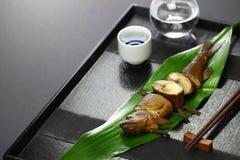 与獐鹿的Ayu在酱油和糖,日本开胃菜煨了为了缘故 图库摄影