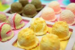 与玉米味道的冰淇凌大模型 库存图片