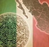 与玛雅日历的背景 免版税库存图片