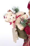 与玩具圣诞老人的袋子 库存图片