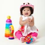 与玩具的乐趣 免版税库存照片