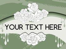与玫瑰的抽象五颜六色的背景 免版税库存图片