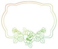与玫瑰的梯度框架 光栅剪贴美术 库存照片