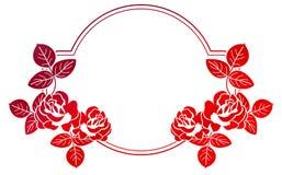 与玫瑰的梯度框架 光栅剪贴美术 库存图片