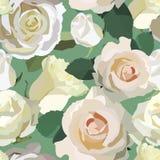 与玫瑰的模式 免版税库存照片