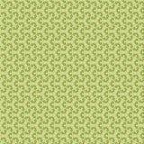 与玫瑰的装饰装饰品,绿色 向量例证