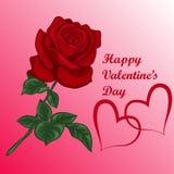 与玫瑰花束的心脏  库存例证