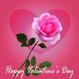 与玫瑰花束的心脏  皇族释放例证