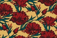 与玫瑰花束的无缝的花卉背景  墙纸、织品、数字式纸等等的葡萄酒样式 破旧的别致的样式pa 免版税图库摄影