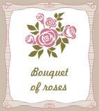 与玫瑰花束的背景 皇族释放例证