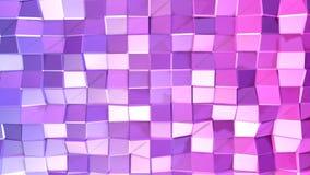 与现代梯度颜色的低多抽象背景 蓝色紫罗兰3d表面 V2 库存照片