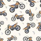 与现代摩托车的无缝的纹理 免版税库存图片