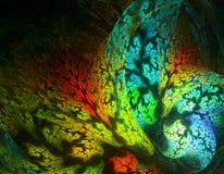 与珊瑚的水下的世界 抽象分数维计算机生成的图象 库存图片