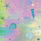 与珍珠作用颜色的抽象海背景 免版税图库摄影