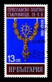 与珍珠十字架的垂饰,金黄珍宝大普雷斯拉夫(第910 库存图片