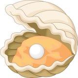 与珍珠的牡蛎 免版税库存图片