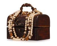 与珍珠的配件箱 库存图片