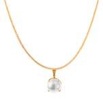 与珍珠的金链子 免版税库存照片