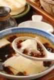 与珍珠粉球的豆腐布丁 图库摄影