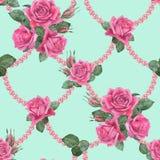 与珍珠3的玫瑰 库存照片