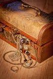 与珠宝的箱柜 免版税图库摄影